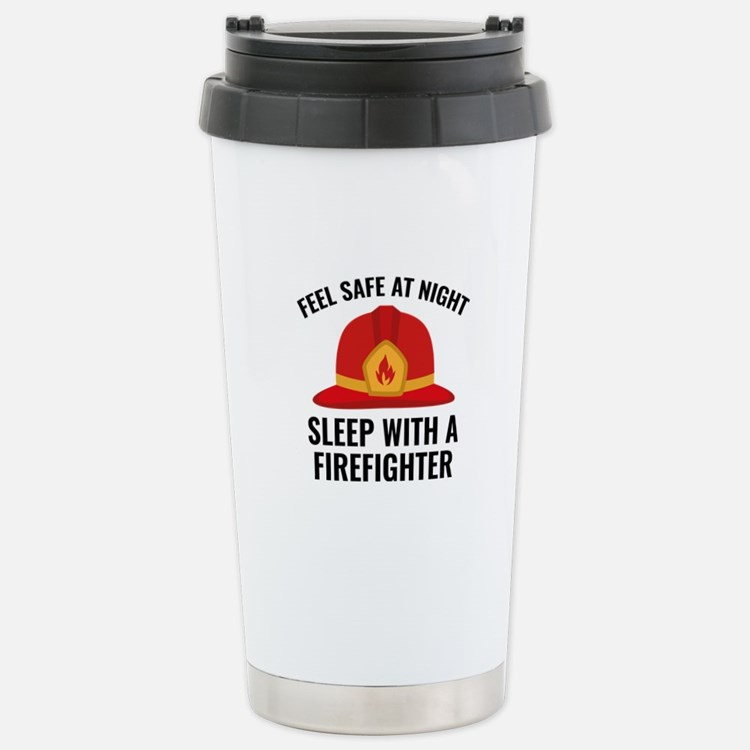 Sleep With A Firefighter Ceramic Travel Mug