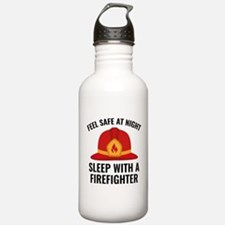 Sleep With A Firefighter Water Bottle