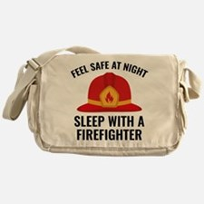 Sleep With A Firefighter Messenger Bag