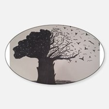 Freehand Drawn Artistic Tree Decal
