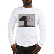 Freehand Drawn Artistic Tree Long Sleeve T-Shirt