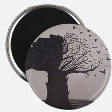 Freehand Drawn Artistic Tree Magnets