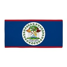 Flag of Belize Beach Towel
