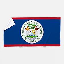 Flag of Belize Beach Towel