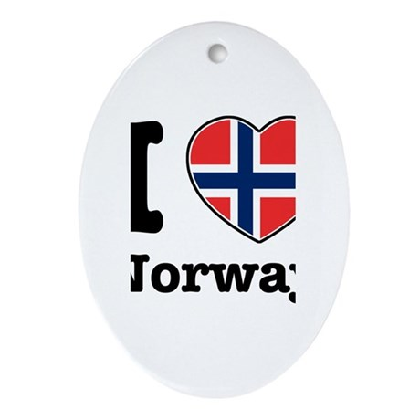 I love Norway Oval Ornament