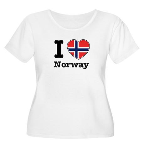 I love Norway Women's Plus Size Scoop Neck T-Shirt
