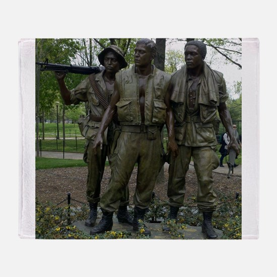 Washington DC war memorial Throw Blanket