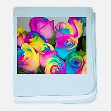 Tye Dye Roses baby blanket