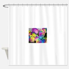 Tye Dye Roses Shower Curtain