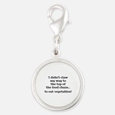 Top Of The Food Chain Silver Round Charm