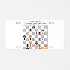 Chess Master Alexander Petr Aluminum License Plate
