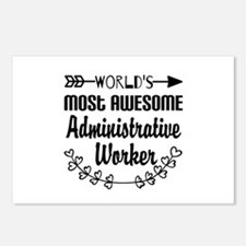 World's Most Awesome Admi Postcards (Package of 8)