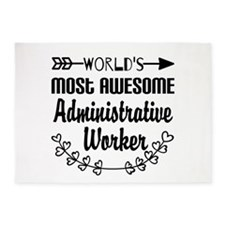 World's Most Awesome Administrative 5'x7'Area Rug