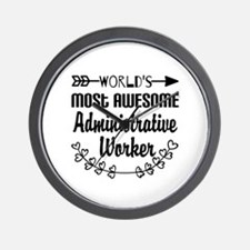 World's Most Awesome Administrative Wor Wall Clock