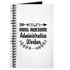 World's Most Awesome Administrative Worker Journal