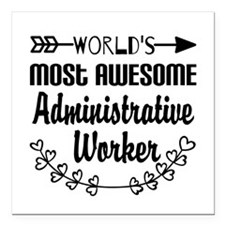 """World's Most Awesome Adm Square Car Magnet 3"""" x 3"""""""
