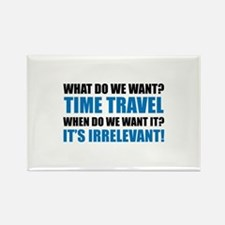 Time Travel Rectangle Magnet