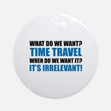 Time Travel Ornament (Round)