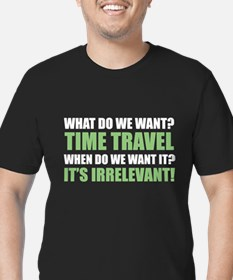 Time Travel Men's Fitted T-Shirt (dark)