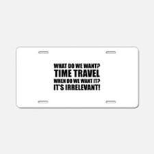 Time Travel Aluminum License Plate