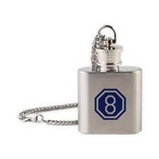 8th Army Corps Flask Necklace