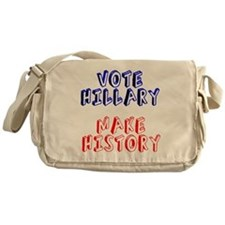 Vote Hillary Make History Messenger Bag
