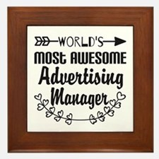 World's Most Awesome Advertising Mange Framed Tile