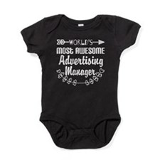 World's Most Awesome Advertising Man Baby Bodysuit