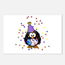 Party Penguin Confetti Postcards (Package of 8)