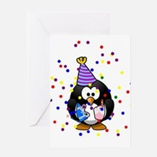 Party Penguin Confetti Greeting Cards