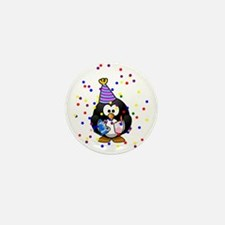 Party Penguin Confetti Mini Button