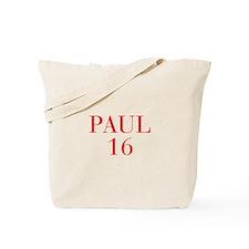 Paul 16-Bau red 4 Tote Bag