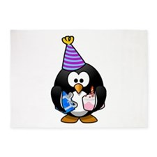 Party Penguin 5'x7'Area Rug