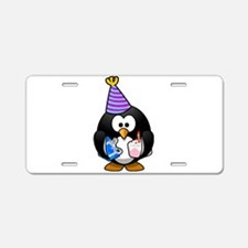 Party Penguin Aluminum License Plate
