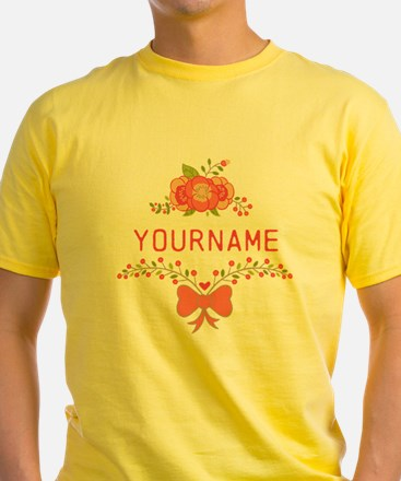 Personalized Name Cute Floral T