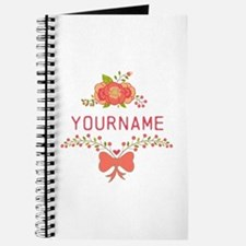 Personalized Name Cute Floral Journal