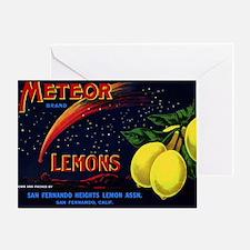 Meteor Lemons Greeting Card