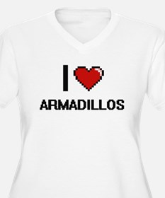 I love Armadillos Digital Design Plus Size T-Shirt
