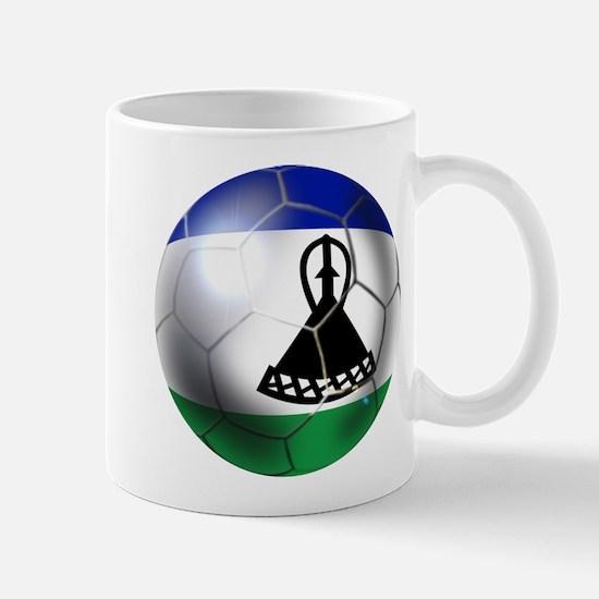 Lesotho Soccer Ball Mug