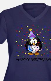 Happy Birthday Penguin Plus Size T-Shirt