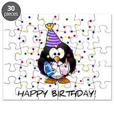 Happy Birthday Penguin Puzzle