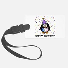 Happy Birthday Penguin Luggage Tag