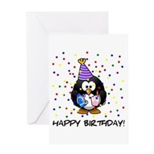 Happy Birthday Penguin Greeting Cards