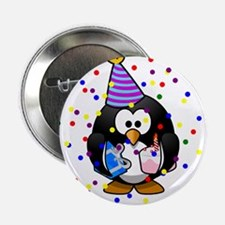 """Happy Birthday Penguin 2.25"""" Button (10 pack)"""