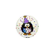 Happy Birthday Penguin Mini Button