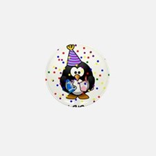 Happy Birthday Penguin Mini Button (10 pack)