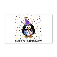 Happy Birthday Penguin Car Magnet 20 x 12