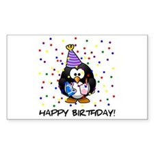 Happy Birthday Penguin Decal