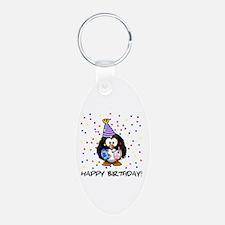 Happy Birthday Penguin Keychains