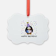 Happy Birthday Penguin Ornament